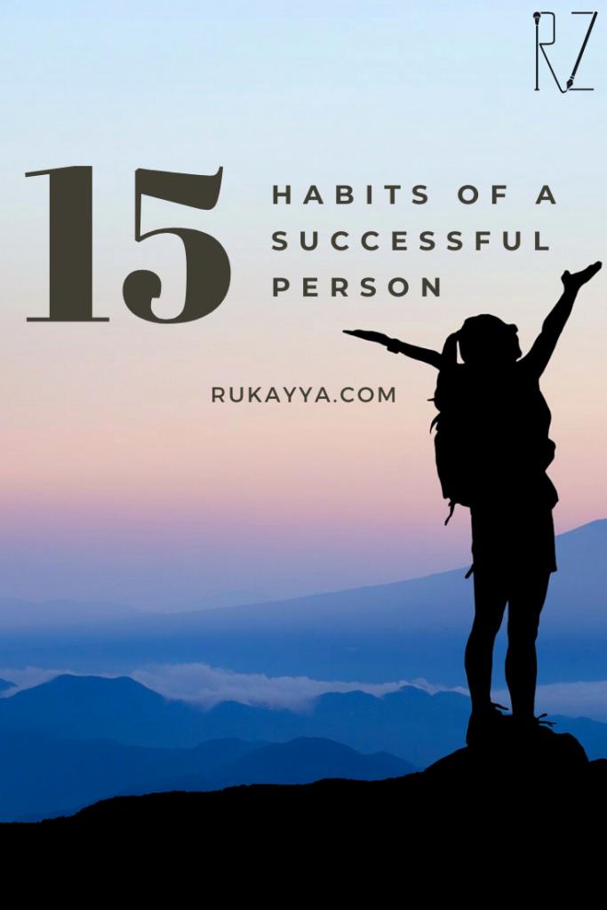 habits of a successful person