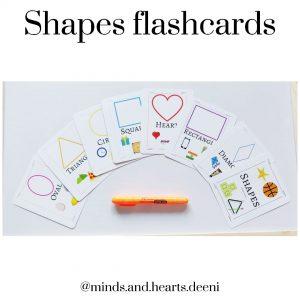 Shapes flashcard